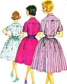 1960s Dress Pattern Simplicity 3860 Rockabilly Full by paneenjerez, $12.00