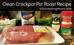 Gluten Free Crockpot Pot Roast Recipe is a great recipe for those trying to eat clean. It is also a simple dish made with mostly vegetables and spices.