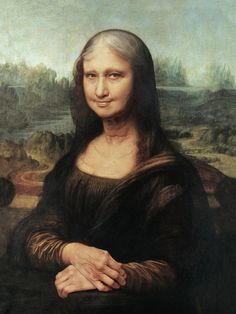 Monalisa getting older [Roberto Weigand] (Gioconda / Mona Lisa)