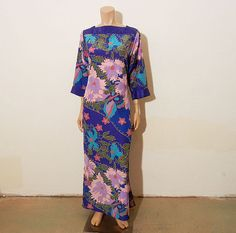 Tropical Floral Royal Blue Oscar De La by Planetclairevintage........I love this so much