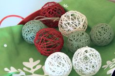 Plan your peaceful Christmas: celebrate with handmade decor | The Art of Simple string balls