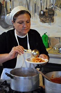 Cooking with Italian Mamma in Puglia, Italy and a recipe for hand-made orecchiette in a garlic tomato sauce
