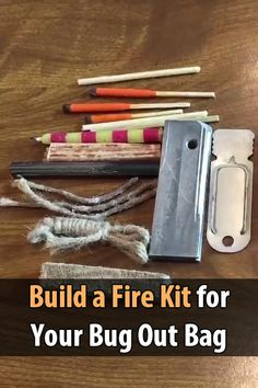 """Bugout Channel made something called a """"fire kit."""" The idea is to have everything you need to start a fire in one container."""