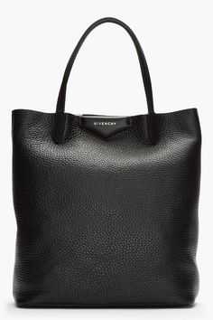 GIVENCHY Black & White Leather Antigona Shopper Tote