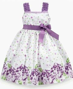 Rare editions children's dress, girl's dress with floral border print - Baby Dress Baby Dress Design, Baby Girl Dress Patterns, Little Dresses, Little Girl Dresses, Cute Dresses, Vintage Girls Dresses, Girls Easter Dresses, 1950s Dresses, Dress Girl