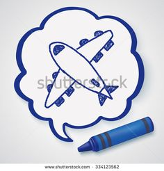 Airplane Doodle Stock Photos, Images, & Pictures | Shutterstock