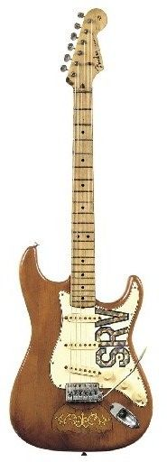 """Lenny"""" – Stevie Ray Vaughan's 1965 Fender Composite Stratocaster: $623,500   Stevie Ray Vaughan, great blues guitarist, received the guitar from his wife, Lenny, in 1980 as 26th birthday present. The guitar named after her then."""