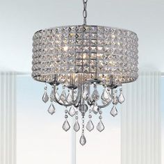 Shop for Costway Elegant Crystal Chandelier Modern 6 Ceiling Light Lamp Pendant Fixture Lighting - Transparent. Get free delivery On EVERYTHING* Overstock - Your Online Ceiling Lighting Store! Get in rewards with Club O! Drum Pendant, Modern Chandelier, Chandelier Lighting, Crystal Chandeliers, Chandelier Bedroom, Bedroom Lighting, Crystal Lights, Bubble Chandelier, Chandelier Ideas