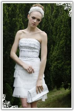 White A-Line/Princess Tight Short/Mini Tulle Prom Dress PD1CC8