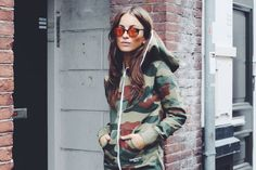 Onepiece Blog | Check our latest news: Featured #PieceKeeper: Lizzy Van Der Ligt Army Print, Fashion Advice, Celebrity News, Military Jacket, Van, Sporty, One Piece, Celebrities, Blog