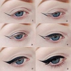 cat eyes makeup steps