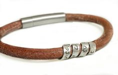 Awesome mens bracelet for my hibby! Check out this item in my Etsy shop https://www.etsy.com/ca/listing/471921936/mens-stamped-leather-bracelet-ladies