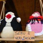 "Sicily: cheeses at a stand at Zaffferana's Ottobrata festival say, ""We are the true Sicilians."""