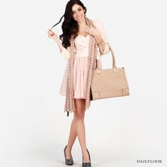 Check out Blush Delivery at DailyLook...love the bracelet and glittery shoes