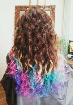 dirty blonde hair purple dip dyed - Google Search                              …