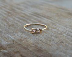 Anello quarzo rosa oro rosa anello Infinity nodo anello
