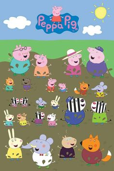 Price: Peppa Pig Character Muddy Puddle Maxi Poster, Multi-Colour Officially licensed product Produced in the UK x x 36 inches) in size Rolled into a cardboard shippable tubePerfect… George Pig, Funny Iphone Wallpaper, Cartoon Wallpaper, Cute Backgrounds, Cute Wallpapers, Peppa Pig Familie, Peppa Pig Drawing, Character, Backgrounds