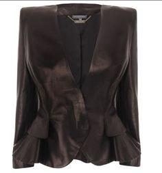 Cruella leather suit jacket.