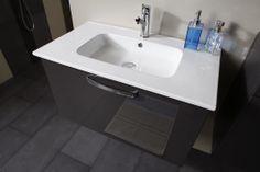 detaliu - Set Mobila / Mobilier Baie modern mdf lacuit gri si alb  MYSTIC  | #Mobila Decor, House Design, Modern, Home Decor, Sink