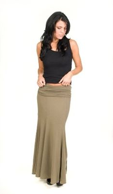 Hard Tail Convertible Skirt Dress  This Hard Tail convertible dress/skirt in khaki green, can be worn as a halter dress or maxi skirt. 90% Cotton and 10% Lycra.