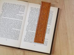 Winged Horse Bookmark Hand Tooled Leather by TinasLeatherCrafts. Repin To Remember.