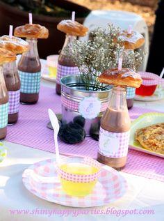 Mesa dulce cumpleaños comunión en verano