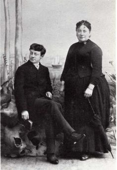 France. French painter Henri Matisse with his mother Anna, 1889