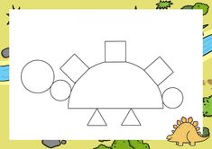 Dzień Dinozaura - Kształty / Stwórz swojego dinozaura do druku Dinosaur Activities, Dinosaur Crafts, Paper Plate Animals, French Language Learning, Learning Spanish, Daycare Curriculum, Ocean Crafts, Vocabulary Activities, Games For Toddlers