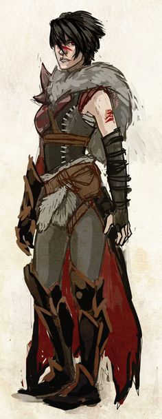 Battlemage Hawke (correct me if I'm wrong about the class cuz she kinda looks like a battlemage)