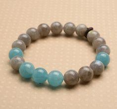 chakra bracelet mala style bracelet stretch bracelet slip by izuly, $32.00