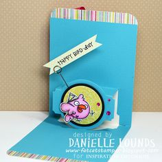 Danielle Lounds using the A2 Pop 'n Cuts Base with included Circle Label insert - HappyHappyBDdayPopNCut_CInside_DanielleLounds