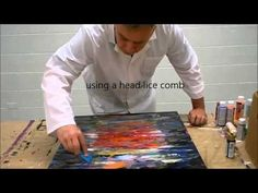 Abstract Painting DEMO 26 / Abstract art / palette knife / painting techniques - YouTube