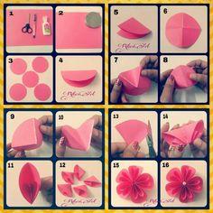 Origami flower tute