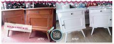 mesas de luz americanas blancas. radiantes! Kitchen Cart, Home Decor, Chinese Flowers, Mesas De Luz, Upcycling, Decoration Home, Room Decor, Home Interior Design, Home Decoration