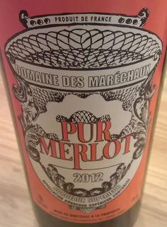 Loving this new retro Bordeaux label design. Tastes awesome too. #wine #maréchaux