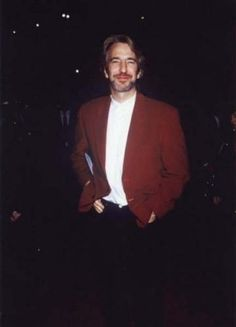 """October 3, 1990 - Alan Rickman at the Guild Theater, NY for the """"Quigley Down Under"""" premiere. ... I think."""