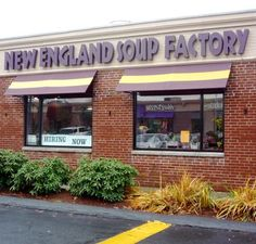 New England Soup Factory, Newton MA. http://www.visitingnewengland.com/soup-factory-restaurant.html