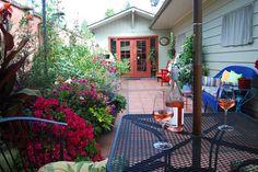 Beautiful backyard garden in Portland