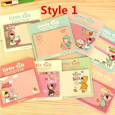 Korean cute sticky notes Bookmark by PokemonGarden on Etsy