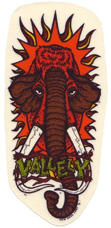 The New Deal Skateboards Mike Vallely Mammoth Sticker