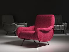Cassina 720 Lady Seating/Armchairs computer generated 3d model. Designed by Marco Zanuso. Produced by Design Connected.