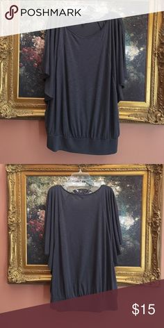 Gray Express Shirt Pretty flowy top thats perfect for spring and summer! Comes down to the hips. Worn only once or twice. No stains or tears. In perfect condition! i love looking at offers! Express Tops Blouses