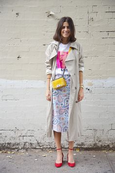Culled from Paris: Try a Long Skirt & Trench - Man Repeller