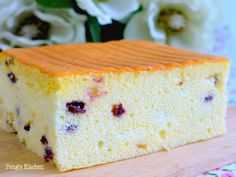 Peng's Kitchen: Cranberry Yogurt Orgura Cake Good texture but not sweet