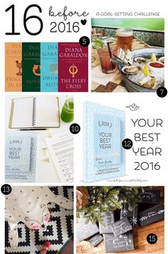 16 before 2016: A goal-setting challenge