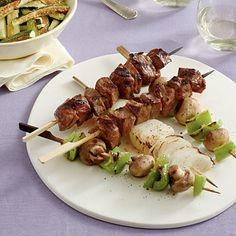 Grilled Steak and Vegetable Kabobs - Easy Grilled Kabobs Recipes - Southern Living