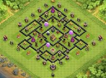 TH8 Hybrid Base (Air Sweeper) TH 8 Clash of Clans Base Layout