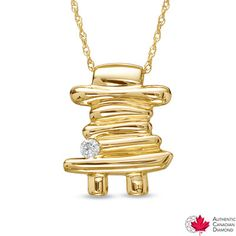 Diamond Accent Certified Canadian Diamond Inuk Shuk Pendant