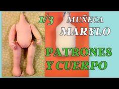 nueva muñeca Marylo , patrones y cuerpo  1/3 manualilolis video-250