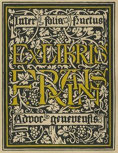 [Bookplate of F. Raisin] by Pratt Libraries, via Flickr